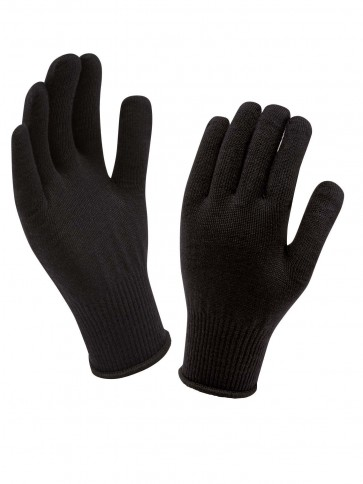 SealSkinz Merino Glove Liner Black