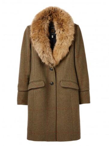 Joules Langley Coat Green Tweed