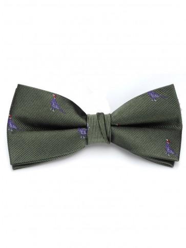 Laksen Sitting Pheasant Olive Bow Tie