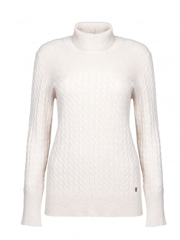 Dubarry Boylan Polo Neck Sweater Oyster