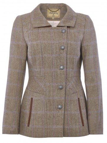 Dubarry Moorland Fitted Tweed Jacket Woodrose