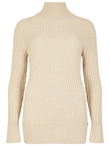 Dubarry Cormack Funnel Neck Sweater Oyster