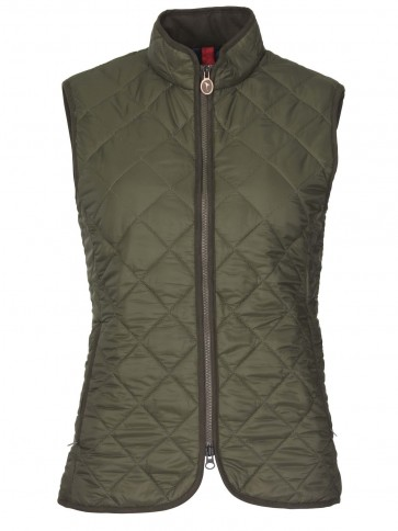 Laksen Audley Quilted Gilet Olive