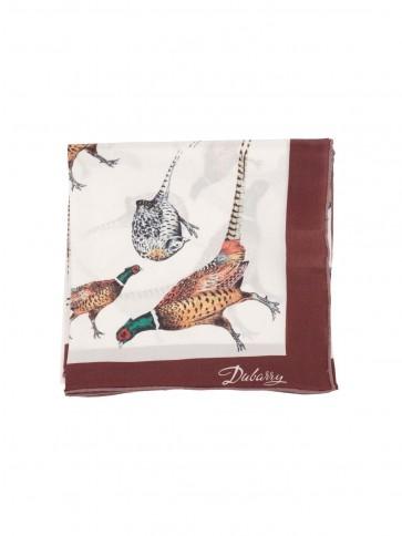 Dubarry Tullynally Printed Silk Scarf Pheasant