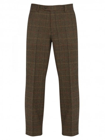 Alan Paine Compton Tweed Trousers Peat