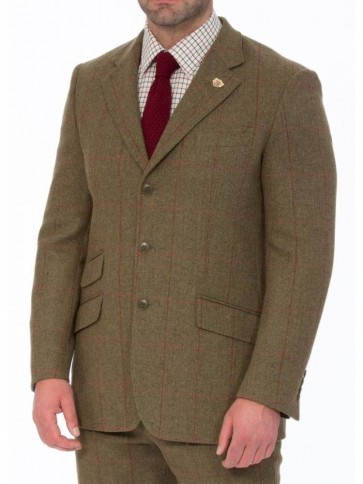 Alan Paine Combrook Action Back Tweed Blazer Sage