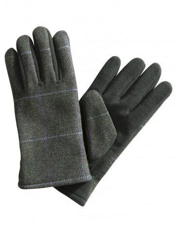Hoggs of Fife Albany Ladies Tweed/Fleece Gloves