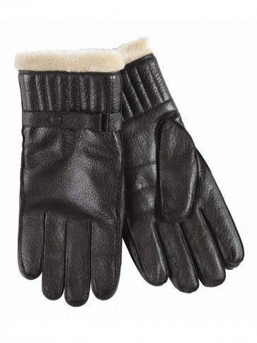Barbour Leather Utility Glove Black