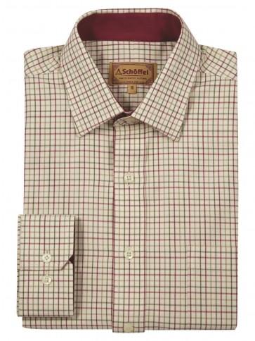 Schoffel Burnham Tattersall Red/Green Checked Shirt