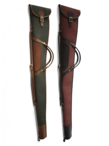 Croots Rosedale Canvas Shotgun Slip with Flap, Zip and Handles