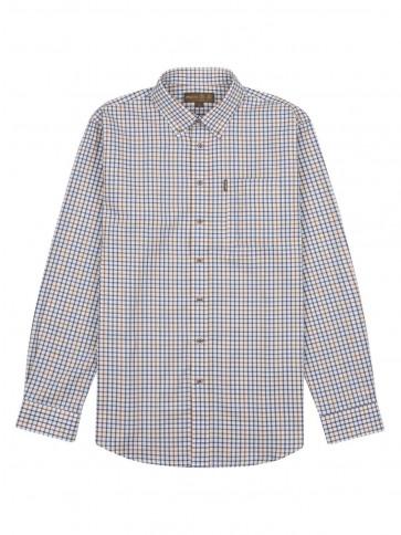 Musto Classic Button Down Check Shirt Keldy Blue