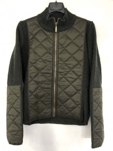 Barbour Ladies Quilt Full Zip Knit Olive