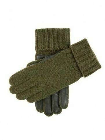Dents Browning Leather Palm Shooting Gloves Olive