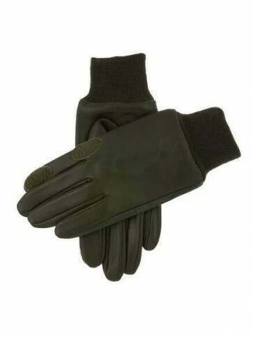 Dents Speyside Leather Shooting Gloves Olive