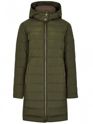 Dubarry Ballybrophy Down Filled Coat Olive