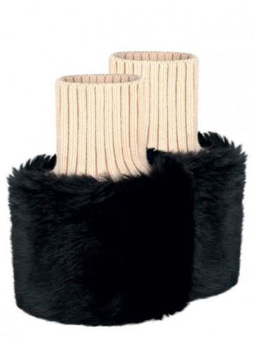 Dubarry Carton Faux Fur Cuffs Black