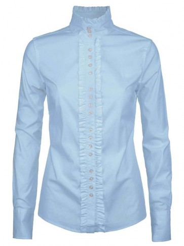 Dubarry Chamomile Long Sleeved Fitted Shirt Pale Blue