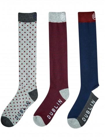 Dublin Classic Socks 3 Pack Navy