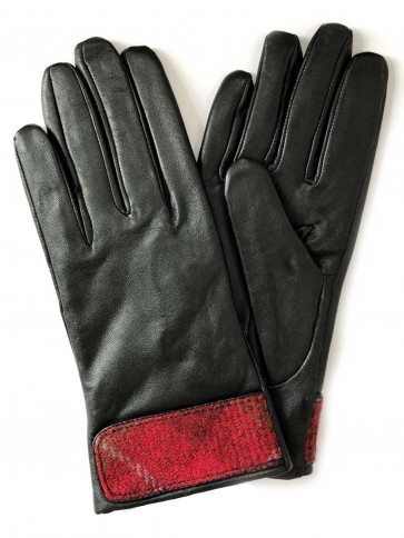 Failsworth Ladies Harris Tweed Cuff Leather Gloves
