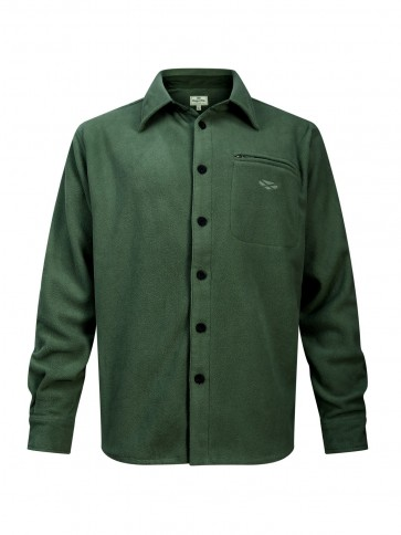 Hoggs of Fife Highlander Micro Fleece Shirt Dark Olive