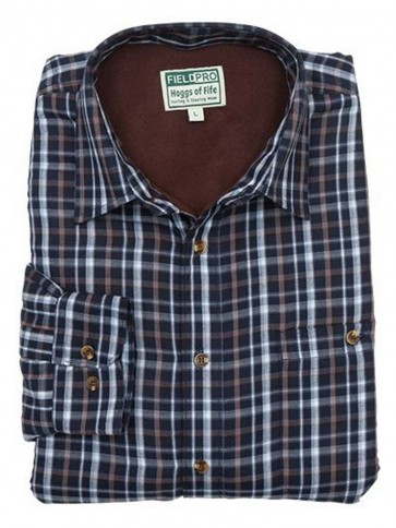 Hoggs of Fife Microfleece Lined Shirt Bark