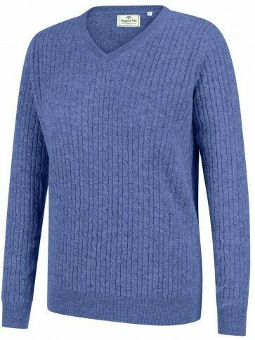 Hoggs of Fife Lauder Cable Knit Violet