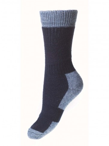 House of Cheviot Lady Glen Ankle Sock Navy