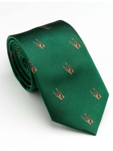 Laksen Trophy Deer Tie British Racing Green