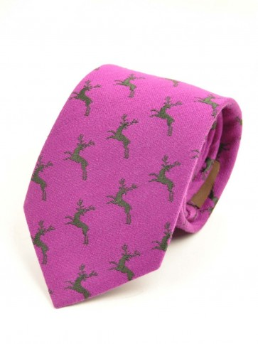 Laksen Deer Tie Purple Heart