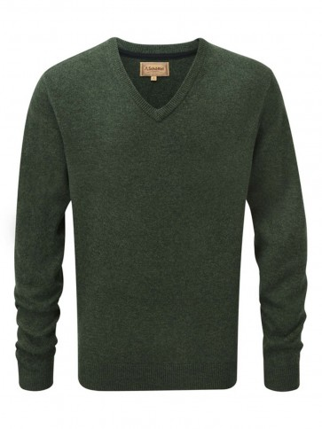Schoffel Lambswool V Neck Jumper Forest