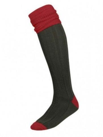 Le Chameau Torsade Knee Socks Red