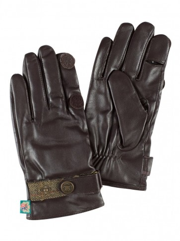 Alan Paine Mens Leather Shooting Gloves Brown/Peat