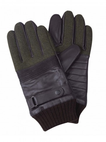 Barbour Thurland Brown and Green Gloves