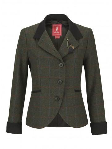 Jack Murphy Harriet Tweed Jacket Green Herringbone Check
