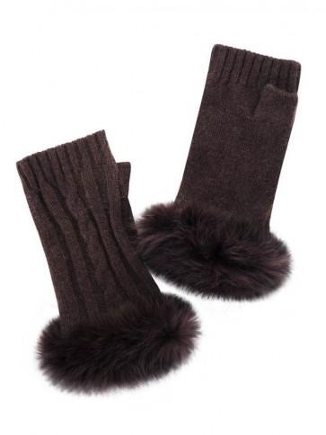 Really Wild Clothing Rabbit Fur Mittens