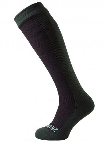 SealSkinz Hiking Mid Knee Black/Racing Green Socks
