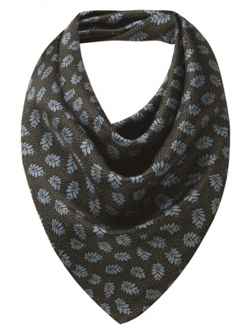 Schoffel Ladies Silk Scarf Dark Olive/Blue