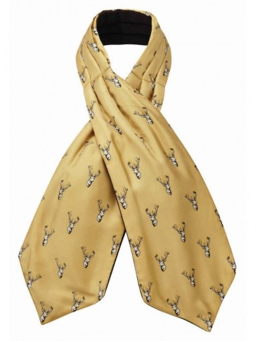 Schoffel Silk Shooting Cravat Ochre