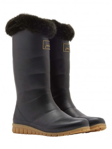 Joules Downton Tall Padded Welly Black