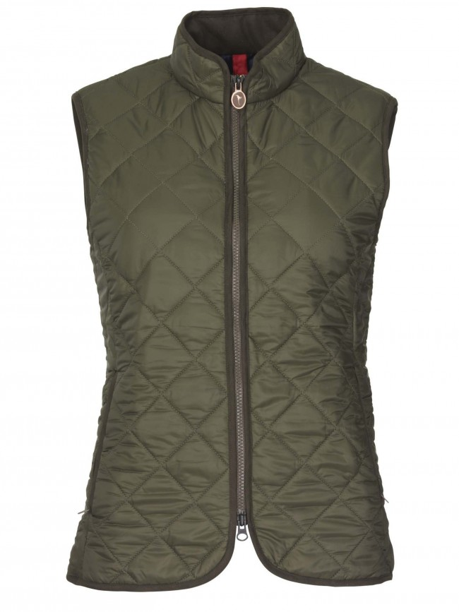 Laksen Audley Quilted Gilet Olive Gilets Womenswear