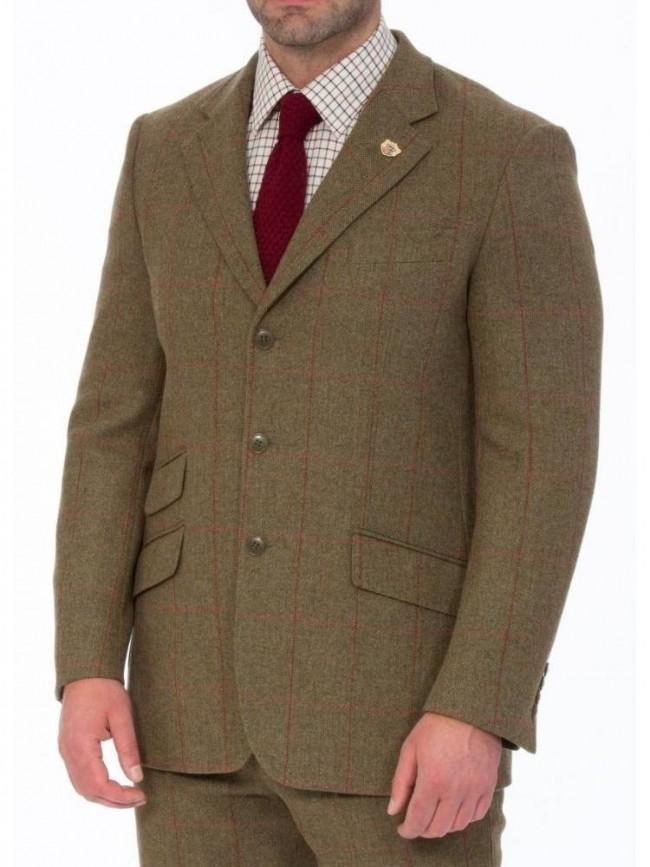 4a8cbf899 Alan Paine Combrook Action Back Tweed Blazer Sage