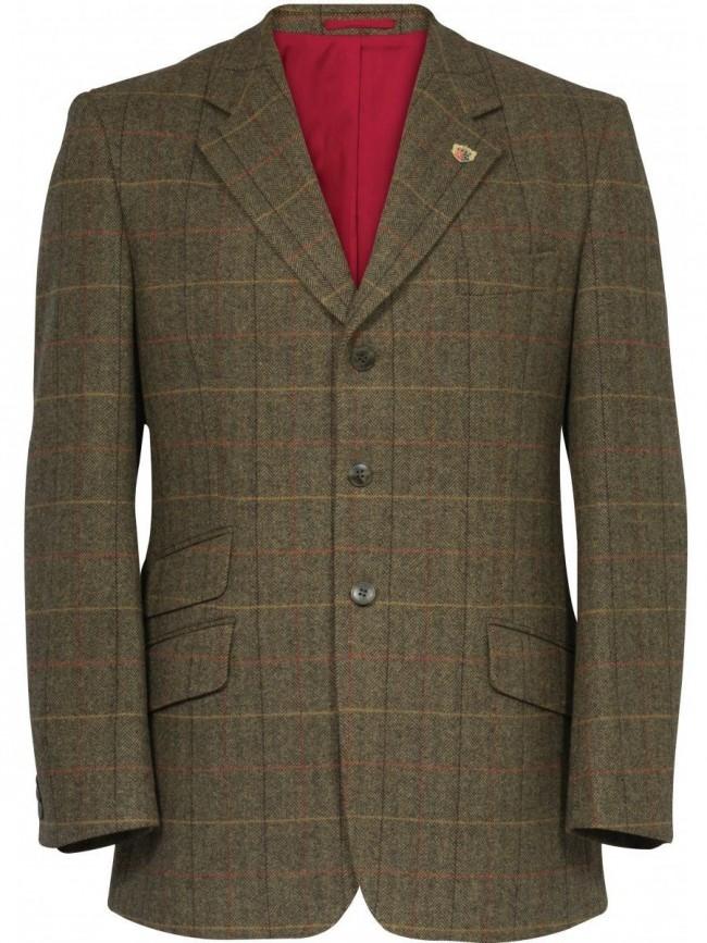 46448e700 Alan Paine Combrook Tweed Blazer Peat