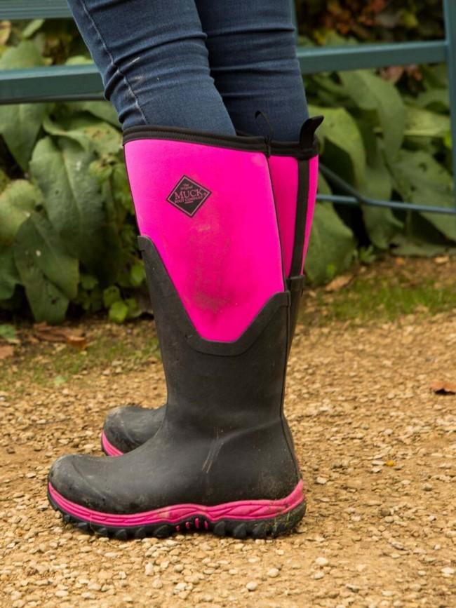 502474c3da9d Muck Boots Women s Arctic Sport II Tall Black Hot Pink