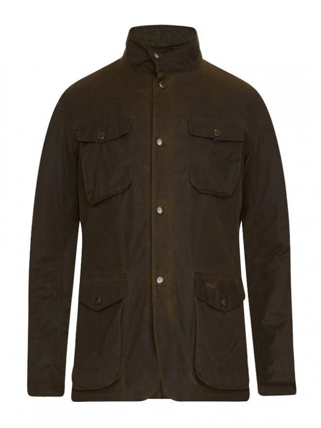 Barbour Ogston Heavyweight Waxed Jacket Olive