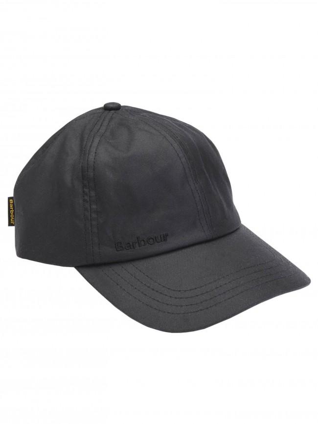 Barbour Men S Waterproof Wax Sports Cap Black