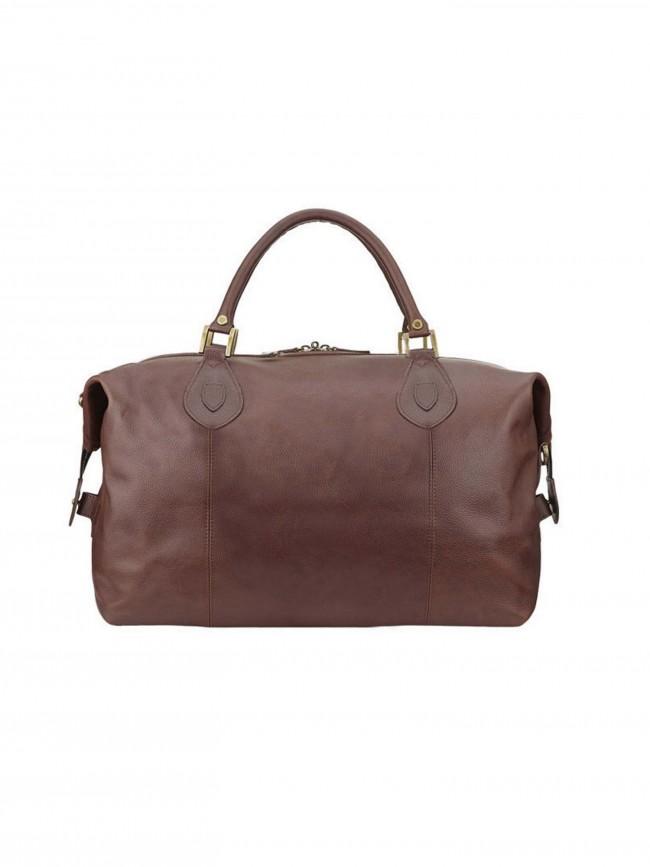 Barbour Leather Medium Travel Explorer Bag Dark Brown · Zoom 04c4293478