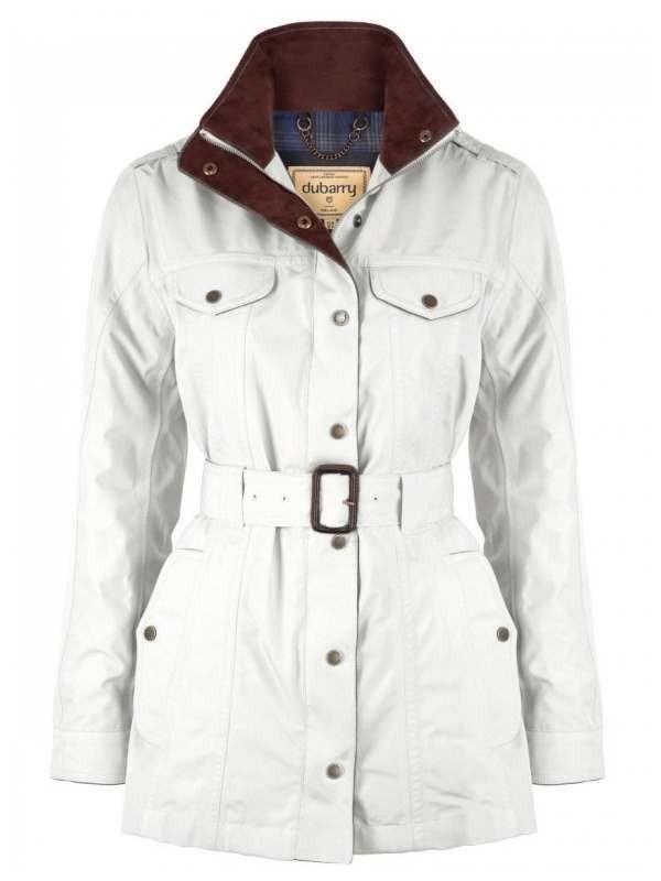 Dubarry Swift Waterproof Jacket White