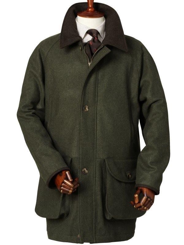 Laksen Kufstein Waterproof Loden Shooting Coat Tweed