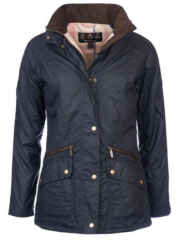 Barbour Crossrail Wax Ladies Jacket Navy