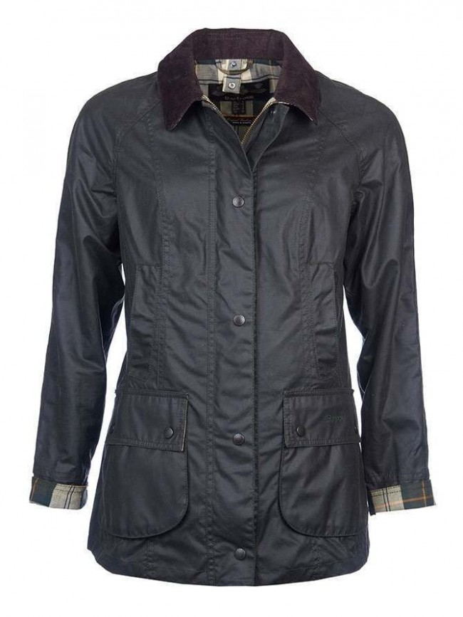 Barbour Beadnell Wax Jacket Sage